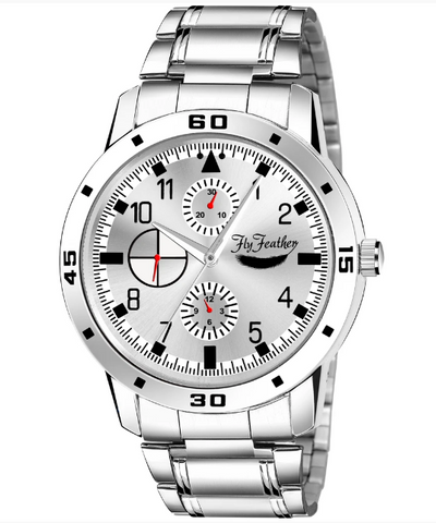 Silver Dial Men's steel watch