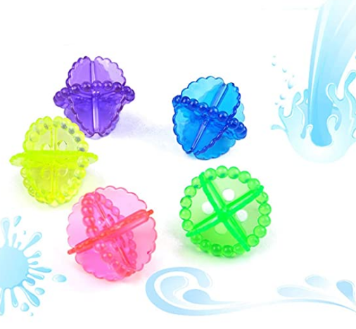 Fly Feather - Washing Machine -Laundry dryer Ball Durable Cloth Cleaning Ball - Wash Without Detergent (6pcs)