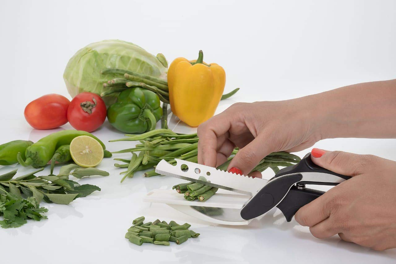 Fly Feather's Combo of two : Smart Vegetable slicer and cutter with peeler