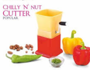 "Fly Feather Unbreakable  Plastic chilly  ""N"" Nut Cutter in Multi-Color Dryfruit Chopper"