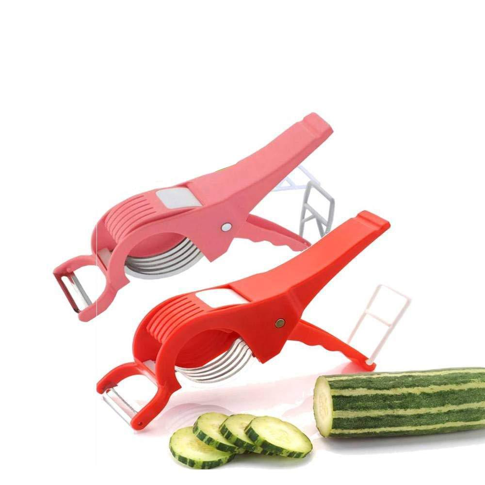Vegetable Cutter with Peeler - Multi Color Vegetable Cutter With Peeler - Shopping With Deals