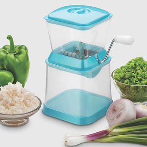 Small Onion Chopper & Vegetable Chopper Quick Cutter with Rotating Blade - Shopping With Deals