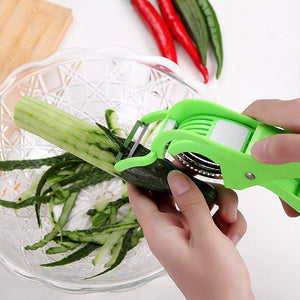 Fly Feather Combo of 3 : Vegetable Clever Cutter and 2 in 1 slicer with peeler and Potato Masher