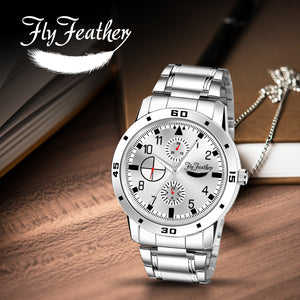 Fly Feather Analog Silver Dial Watch for Men's-Boy's - Shopping With Deals