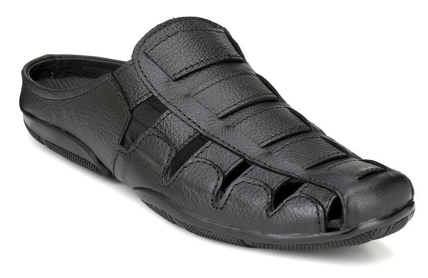 Kingkarlos Black leather sandals - Shopping With Deals