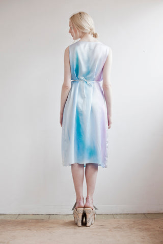 Pastel Blue Silk and Bamboo Shift Dress