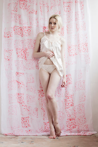 Silver swan bridal lingerie in silk and bamboo