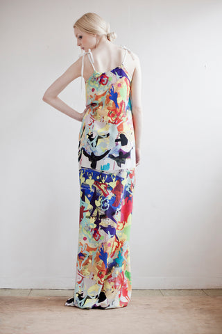 Dancing Dress in Colourful Print