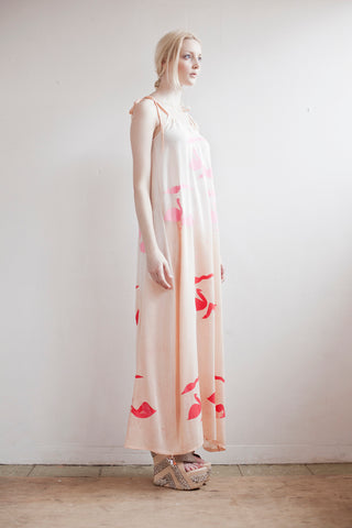 Silk swan ethereal gown in pastel nude shades