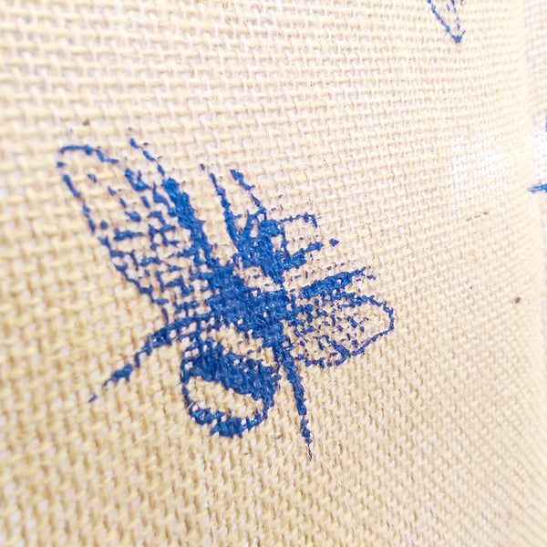 Seed & Hessian Eco Pot, Bumble Bee Print