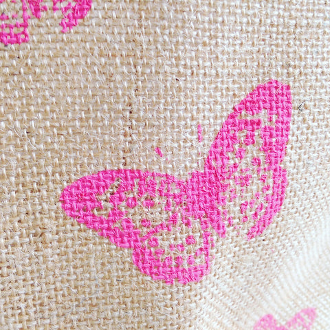 Hessian Eco Pot, Butterfly Print