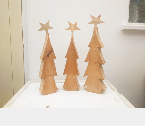 Chunky Christmas trees in Cherry