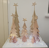 Handcut Christmas trees in various sizes