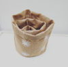 Snowflake Hessian Pot Set