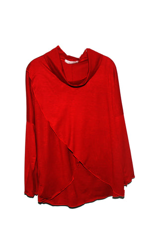 British Made Red Wrap Top