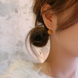 Korean 2020 Fluffy Ball Cute Stud Earrings
