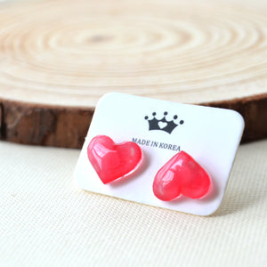Sweet Loveheart Gem Cute Stud Earrings