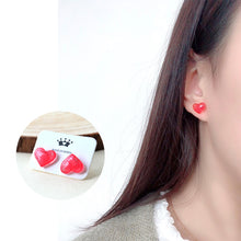 Load image into Gallery viewer, Sweet Loveheart Gem Cute Stud Earrings