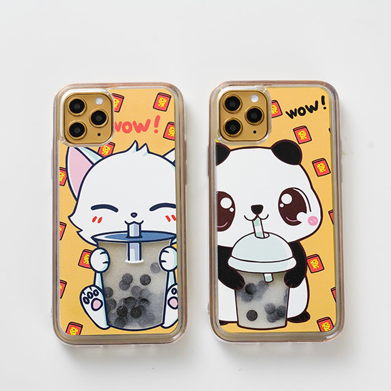 Panda and Cat iPhone Case