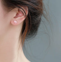 Load image into Gallery viewer, Korean Style Cat Paw Pink Cute Stud Earring