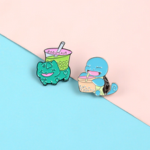 Load image into Gallery viewer, Boba-mon Enamel Pin