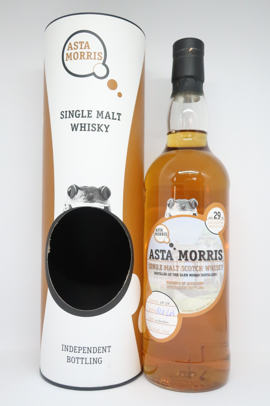 Asta Morris Glen Moray 1989/2019 29yo AM128 Ex-Bourbon, 53.2% (Bottle)