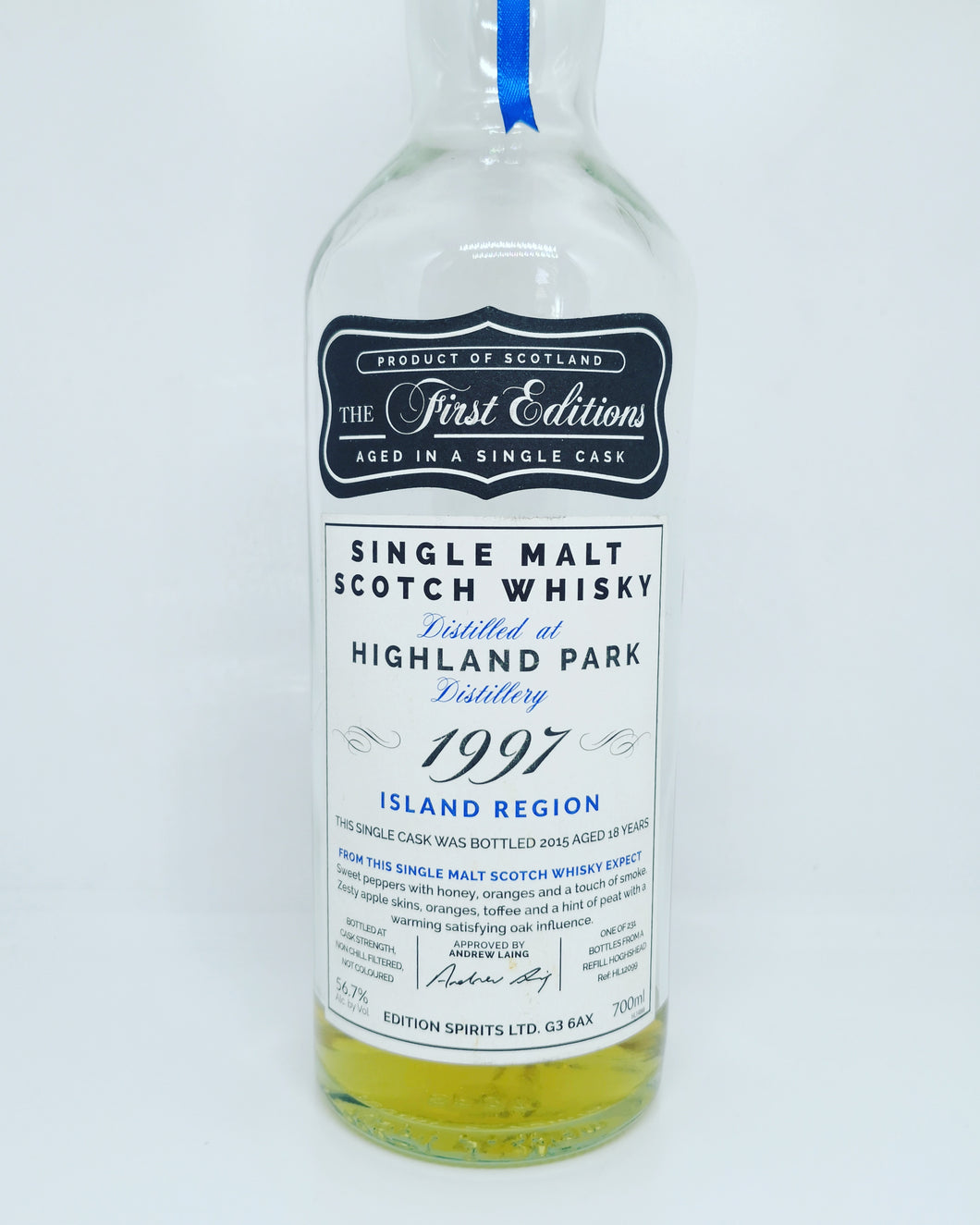 First Editions Highland Park 1997/2015 18yo, Refill Hogshead, 56.7%