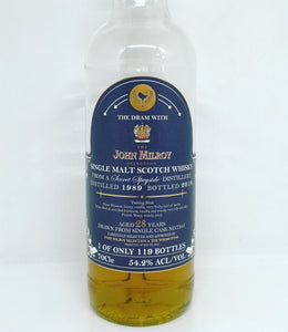 John Milroy & The Whiskyfind Secret Speyside (Glenrothes) 1989/2018 28yo, Hogshead, 54.2%