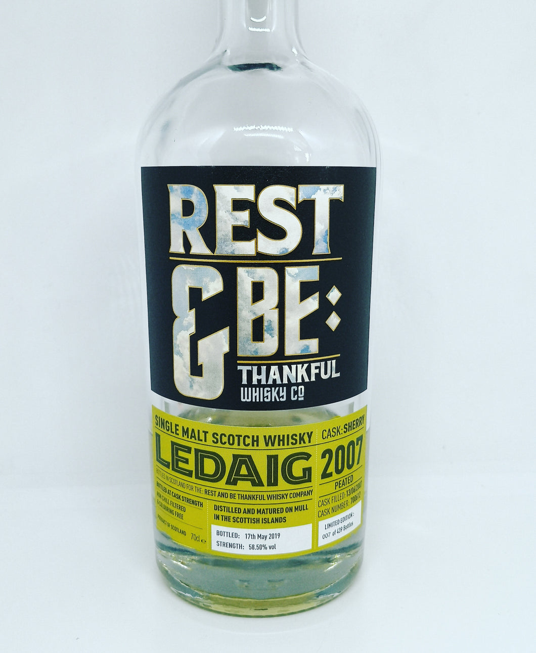 Rest and Be Thankful Ledaig 2007/2019 12yo Sherry Cask, 58.5%