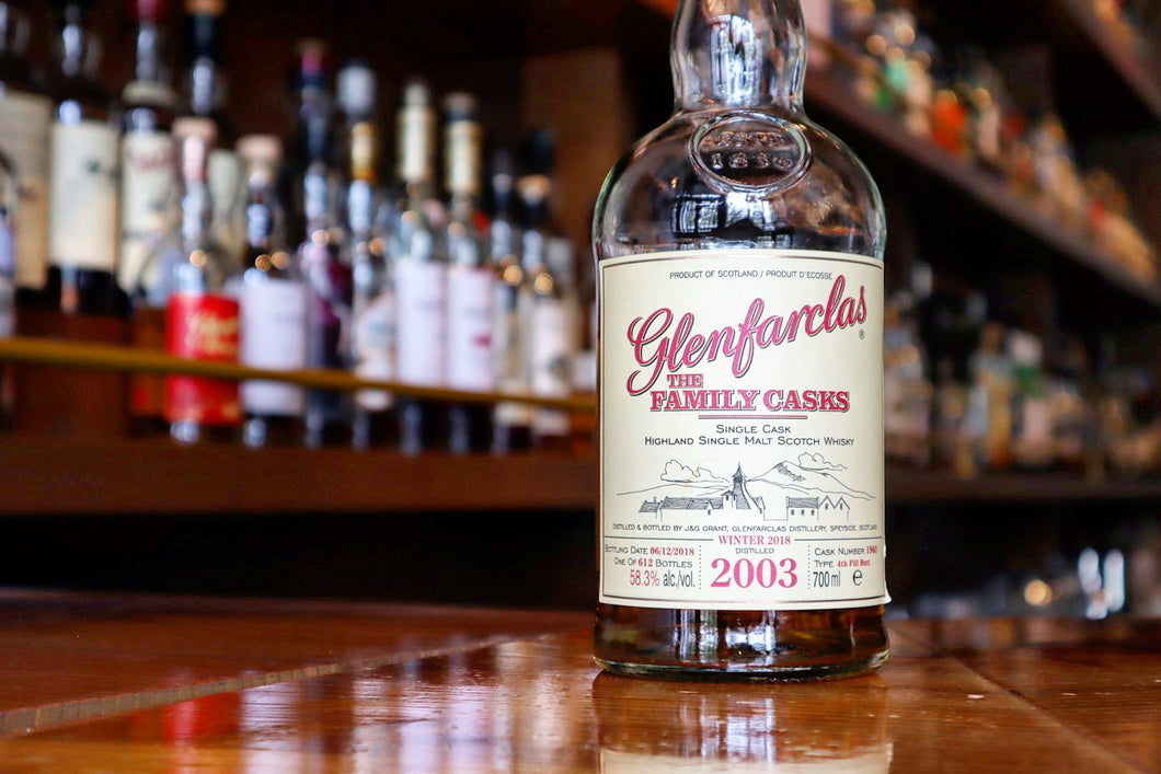 Glenfarclas Family Cask 2003/2018 15yo 4th Fill Sherry Butt #1963, 58.3%