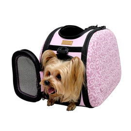 IBIYAYA COLLAPSIBLE TRAVELLING PET SHOULDER CARRIER - BAROQUE