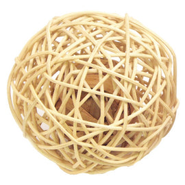 ROSEWOOD RATTAN WOBBLE BALL LARGE
