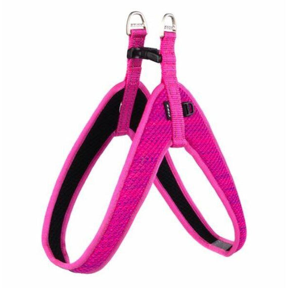 ROGZ SPECIALTY FAST FIT HARNESS PINK LGE