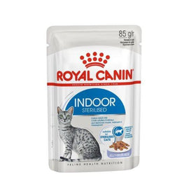 ROYAL CANIN FELINE INDOOR WET POUCHES JELLY 85G X 12