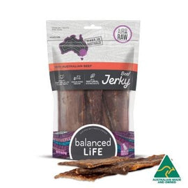 BALANCED LIFE BEEF JERKY STRAPS 113G