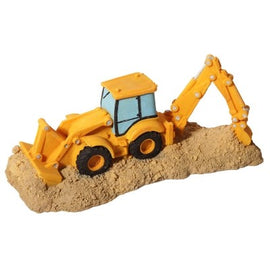 AQUA ONE ORNAMENT BACKHOE LOADER TRUCK 18.4X8.4X7.8CM