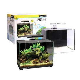 AQUA ONE FOCUS 25 GLASS AQUARIUM 25L 40L X 25D X 31CM H (WHITE)
