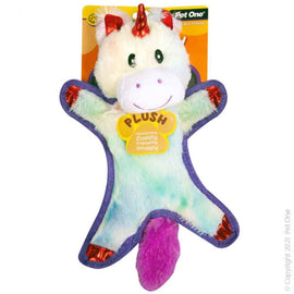 PET ONE DOG TOY PLUSH SQUEAKY MOONICORN 36.5CM