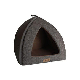 CAT BED IGLOO BROWN XLARGE