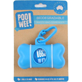 POO WEE BIODEGRADABLE WASTE BAG DISPENSER