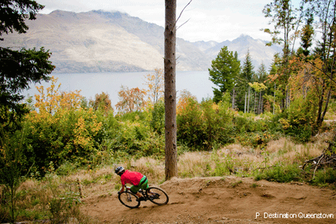 Chill Dirt Features Stoked on a Queenstown Bike Park