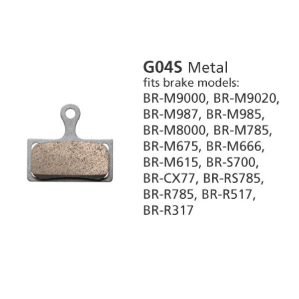 Shimano BR-M8000 Disc Brake Pads G04S Metal 1 Pair