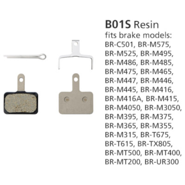 Shimano BR-M446 Disc Brake Pads B01S Resin 1 Pair