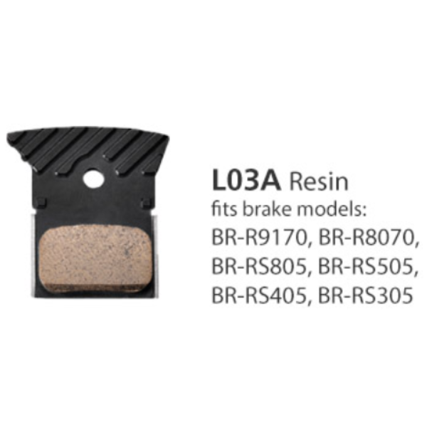 Shimano Road Disc Brake Pads L03A w/Fin Resin 1 Pair