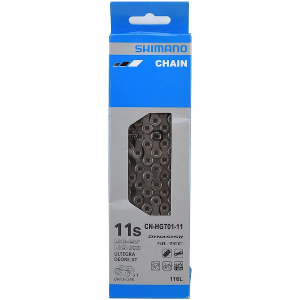 Shimano HG701 Road/MTB Chain 11-Speed Sil-Tec w/Quick Link