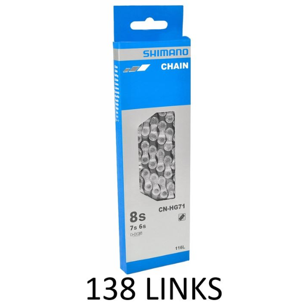 Shimano CN-HG71 Chain 6/7/8-Speed HG Extra Long 138 Links