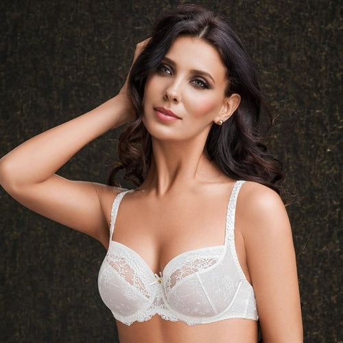 Delicate Lace Full Cup Unlined Bra Bridal Stefi L