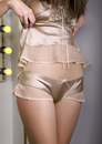 Vintage Gold Champagne Camisole & Tap Pants