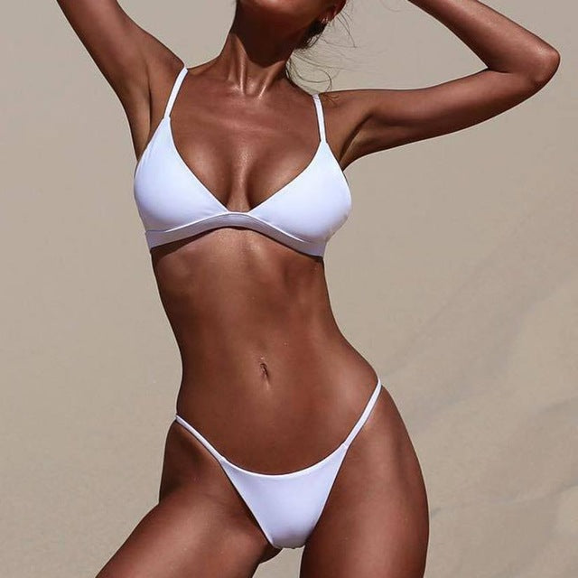 Fabulous Sexy Cross Swimwear Women Push-Up Padded