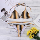 Fabulous Women Bikini Sexy Stripe Printing Set